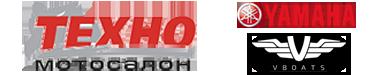 Логотип Мотосалона Техно, город Липецк и Yamaha
